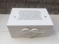 Shabby Personalised Chic Wedding Present Bride Groom EXTRA LARGE Gift Memory Box